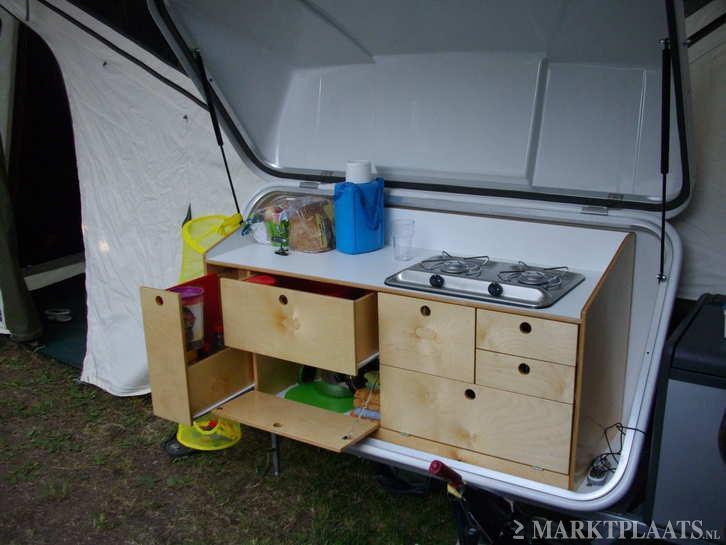 Vouwwagen met vaste keuken jameta antraciet de vries caravans