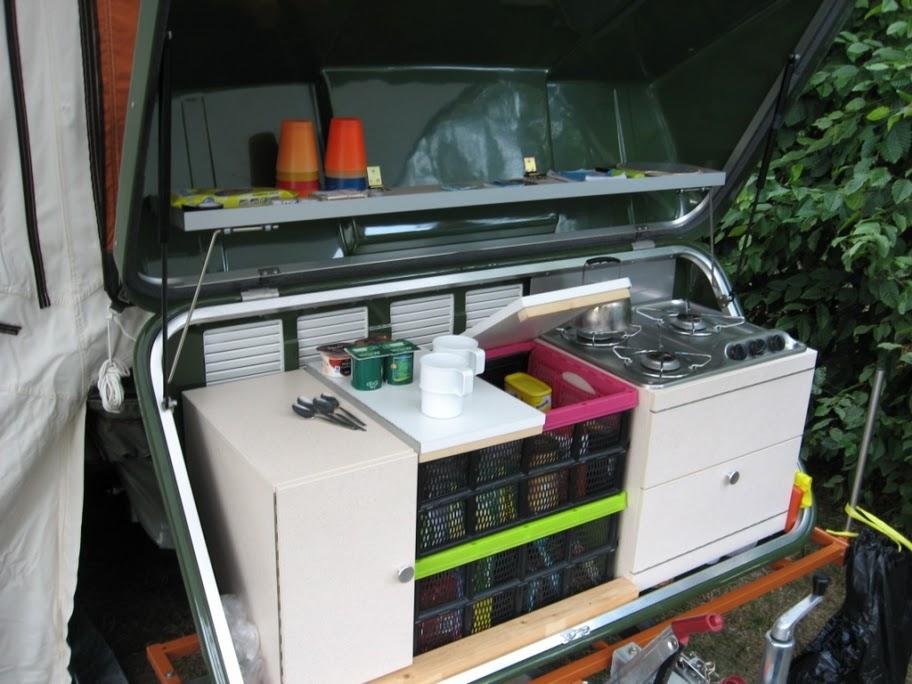 Vouwwagen keuken maken zelfbouw bermkeuken campers and trailers